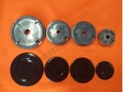 Набор горелок с крышками для газ. плиты Дружковка 2004-2008